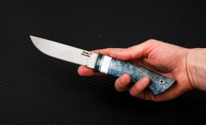 Hож Финский малый: сталь Nitrobe77 рукоять стаб. кар. береза