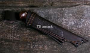 """Финский нож """"Puukko"""" малый сталь кованая D2, рукоять амазакуе"""
