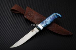 """Финский нож """"Lappi"""": сталь Nitrobe77 рукоять стаб. кар. береза"""