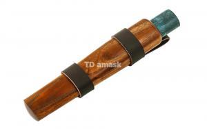 Якутский нож: сталь кованая Х12МФ рукоять кар. береза (синяя) ножны дерево
