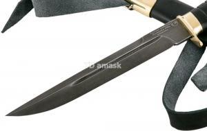 Казачий нож Пластунский: сталь Алмазка; рукоять черный граб, литье