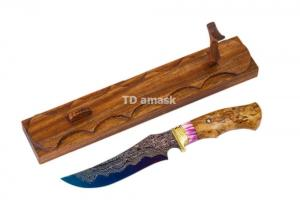 нож Ворон сталь Ламинированная рукоять стаб. карельская береза, Meinartas
