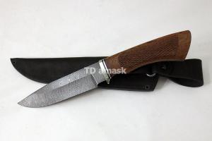 """Нож """"Гепард"""", сталь дамаск, рукоять южный орех, резьба, meinartas"""