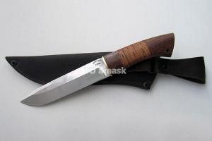 """Нож """"Енот"""", сталь Х12МФ, рукоять наборная береста и южный орех"""
