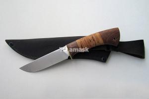 """Нож """"Лиc"""", сталь Х12МФ, рукоять наборная береста и южный орех, meinartas"""