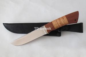"""Нож """"Лучь"""", сталь Х12МФ, рукоять наборная береста и южный орех, meinartas"""