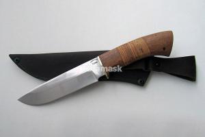 """Нож """"Морж"""", сталь Х12МФ, рукоять наборная береста и южный орех, meinartas"""