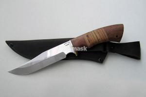 """Нож """"Осетр"""", сталь Х12МФ, рукоять наборная береста и южный орех, meinartas"""