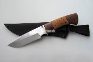 """Нож """"Пума"""", сталь Х12МФ, рукоять наборная береста и южный орех, meinartas"""