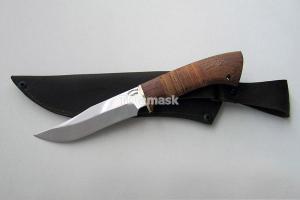 """Нож """"Скорпион"""", сталь Х12МФ, рукоять наборная береста и южный орех, meinartas"""
