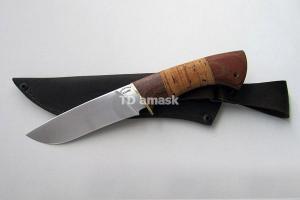 """Нож """"Шершень"""", сталь Х12МФ, рукоять наборная береста и южный орех, meinartas"""