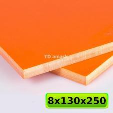 Большая оранжевая плашка G10 250х130х8 мм