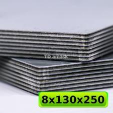 Материал G10 - 8.5 мм, трехцветный - черный, зеленый, серый