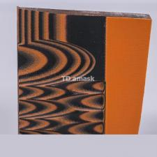 G10 Толстый, двухцветный материал, черный, оранжевый 8.5 мм