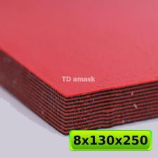 G10 Лист черно-красного материала, размер 250х130х8 мм